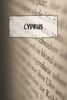 Paperback Cyprus : Ruled Travel Diary Notebook or Journey Journal - Lined Trip Pocketbook for Men and Women with Lines Book