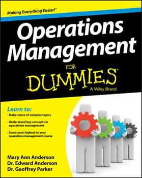 Operations Management for Dummies 1118551060 Book Cover