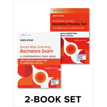 Paperback Social Work Licensing Bachelors Exam Guide and Practice Test Set: A Comprehensive Study Guide for Success Book
