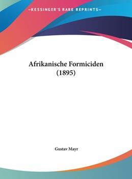 Hardcover Afrikanische Formiciden Book