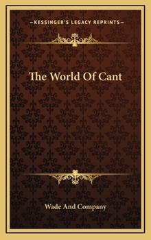 Hardcover The World of Cant Book