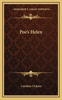 Hardcover Poe's Helen Book