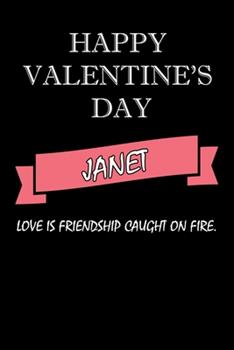 Paperback Happy Valentine's Day Janet Quote : Composition Notebook: Valentine's Day Gift for an Happy Valentine Day Gratitude Your Lover Book