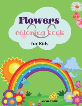 Paperback Flowers colouring book