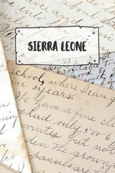 Paperback Sierra Leone : Ruled Travel Diary Notebook or Journey Journal - Lined Trip Pocketbook for Men and Women with Lines Book