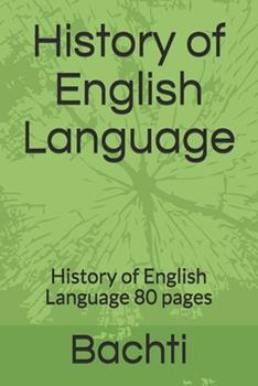 Paperback History of English Language: History of English Language 80 pages Book