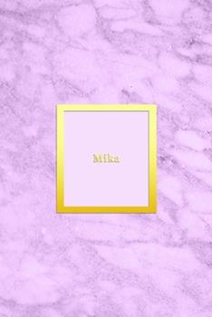 Paperback Mika : Custom Dot Grid Diary for Girls - Cute Personalised Gold and Marble Diaries for Women - Sentimental Keepsake Note Book Journal - Sweet Light Pink Colour Book