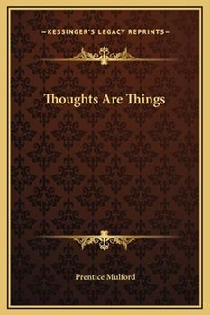 Hardcover Thoughts Are Things Book