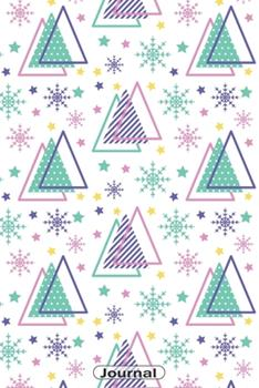 Paperback Journal : Spacy Snowflakes Christmas Pattern Dot Grid Journal 110 Pages; Great Christmas Gift Idea Book
