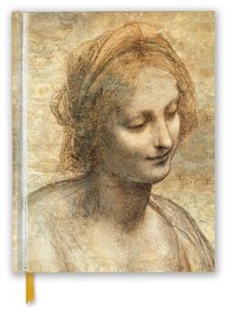 Hardcover Leonardo Da Vinci: Detail of the Head of the Virgin (Blank Sketch Book) Book