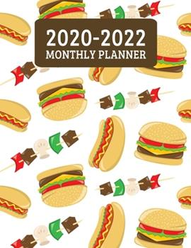 Paperback 2020-2022 Monthly Planner : 3 Year Planner - 36 Month Calendar Planner Diary for Next Three Years with Notes for BBQ Chef, Dad, and Foodie (8. 5 X11 ) Book