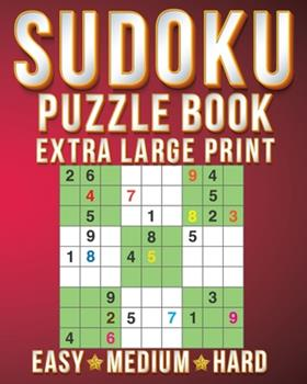 Paperback Sudoku Book Small: Sudoku Extra Large Print Size One Puzzle Per Page (8x10inch) of Easy, Medium Hard Brain Games Activity Puzzles Paperba [Large Print] Book
