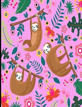 Paperback Andrea : Pink Sloth Sketch Book, 366 Pages Sketch Pad, Sloth Sketchbook, Cute Sloth Cover Drawing Book