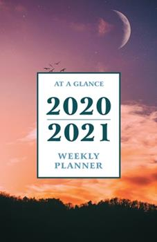 Paperback At a Glance 2020-2021 Weekly Planner : Blue Sky at Sundown Night Moon 2 Year / 24 Month Pocket Planner for Purse - Jan 2020 - Dec 2021 Calendar - Size: 5. 5 X 8. 5 Book