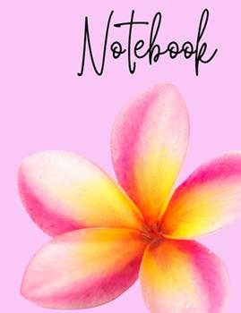 Paperback Notebook : Plumeria Flower Pink School Composition Notebook 100 Pages Wide Ruled Lined Paper Book