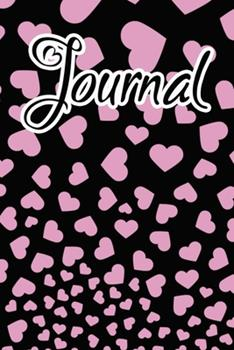 Paperback Journal : Light Orchid Pink Falling Hearts Journal for Women to Write In Book