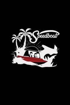 Paperback Speedboat : 6x9 SPEEDBOAT - Blank with Numbers Paper - Notebook - Notes Book