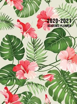 Hardcover 2020-2021 Academic Planner: Large Weekly and Monthly Planner with Inspirational Quotes and Floral Cover Volume 1 (Hardcover) Book