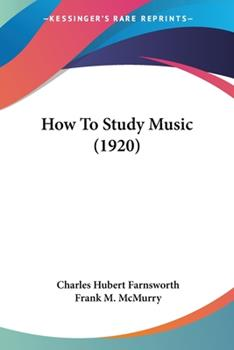 Paperback How to Study Music Book
