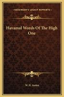Havamal Words Of The High One 1169174132 Book Cover