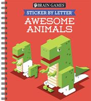 Sticker Puzzles: Awesome Animals 1640305041 Book Cover