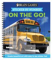 Brain Games - Sticker by Number: On the Go (Square Stickers): Create Beautiful Art With Easy to Use Sticker Fun! 1645581748 Book Cover