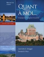 Manuel de Preparation for Bragger/Rice's Quant a Moi, 5th 1111836345 Book Cover