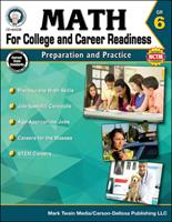Math for College and Career Readiness, Grade 6: Preparation and Practice 1622235835 Book Cover