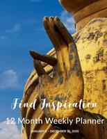 12 Month Weekly Planner: January 1 - December 31, 2020 1677466294 Book Cover