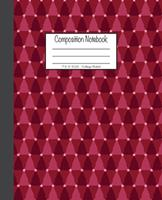 Composition Notebook: 7.5x9.25, College Ruled Red Christmas Trees 1676725938 Book Cover