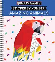 Brain Games - Sticker by Number: Amazing Animals 1645580326 Book Cover