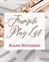 Favorite Play List - Blank Notebook - Write It Down - Pastel Rose Gold Brown - Abstract Modern Contemporary Unique 1034285084 Book Cover