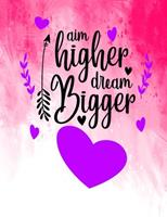 Aim Higher Dream Bigger: Best Friend Gifts For Women BFF Friendship Journal For Women and Girls 1708195009 Book Cover