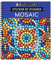 Brain Games - Sticker by Number: Mosaic 1645587347 Book Cover