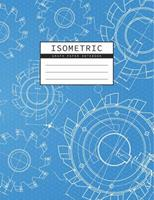 Isometric Graph Paper Notebook: Mechanical Engineering Drawings Blue Background Drafting Paper Isometric pad 1/4 Inch Equilateral Triangle 3D Graph Paper Engineer Notebook 1073315622 Book Cover