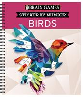 Brain Games - Sticker by Number: Birds (28 Images) 164558495X Book Cover