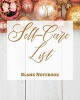 Self-Care List - Blank Notebook - Write It Down - Pastel Rose Gold Pink - Abstract Modern Contemporary Unique Design 1034269283 Book Cover