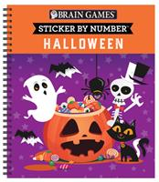 Brain Games - Sticker by Number: Halloween 1645584968 Book Cover