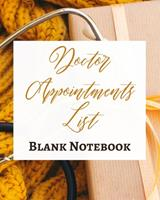 Doctor Appointments List - Blank Notebook - Write It Down - Pastel Rose Gold Brown Yellow - Abstract Modern Unique Art 1034284347 Book Cover