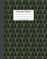 Composition Notebook: 7.5x9.25, Wide Ruled Green Christmas Trees 1676725954 Book Cover