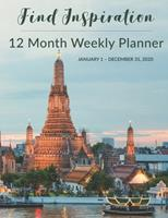 12 Month Weekly Planner: January 1 - December 31, 2020 1677483121 Book Cover