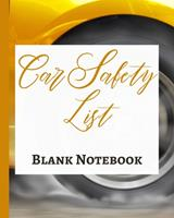Car Safety List - Blank Notebook - Write It Down - Pastel Rose Gold Pink - Abstract Modern Contemporary Unique Art 1034285955 Book Cover