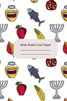 Jewish Art Inspirational, Motivational and Spiritual Theme Wide Ruled Line Paper 1676606122 Book Cover