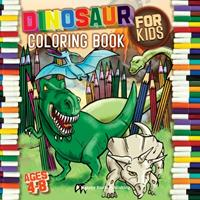 Dinosaur Coloring Book for kids ages 4-8: With Unique Illustrations including T-Rex, Velociraptor, Triceratops, Stegosaurus and More 1513681737 Book Cover