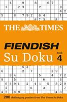 The Times Fiendish Su Doku Book 4: 200 challenging puzzles from The Times 0007364539 Book Cover