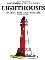 Simple Coloring Books for 4-5 Year Olds (Lighthouses) 0244862109 Book Cover