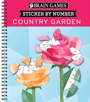 Brain Games - Sticker by Number: Country Garden 1645580334 Book Cover