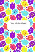 Jewish Art Inspirational, Motivational and Spiritual Theme Wide Ruled Line Paper 1676667148 Book Cover