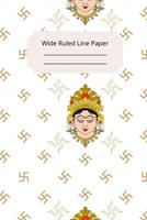 Hindu Art Inspirational, Motivational and Spiritual Theme Wide Ruled Line Paper 1676507701 Book Cover