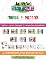 Lines & Spaces: MrMikesMusicMats 1087300541 Book Cover